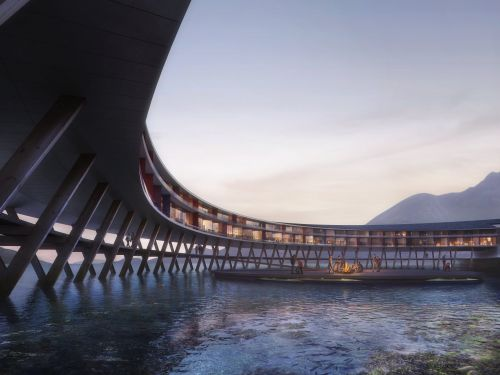 This futuristic hotel is going to be built at the base of a glacier in remote, northern Norway - and it looks like it's straight out of a sci-fi movie