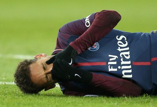 The most expensive footballer in the world cried his eyes out before being carried off the pitch on a str