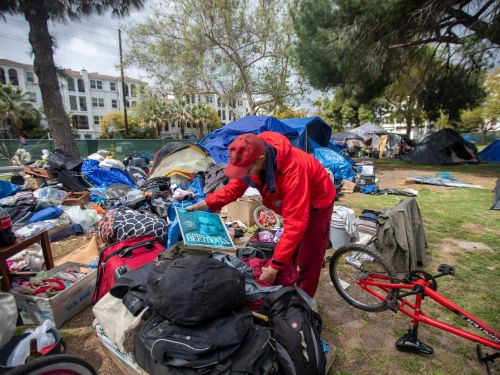 A California city is paying its homeless population to clean up their tent sites as the state fights a homelessness crisis