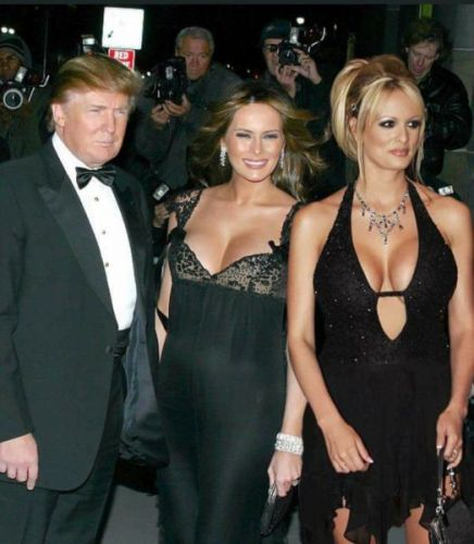 Melania Trump, Stormy Daniels Seen Together With Donald Trump Is A Digitally Manipulated Photo