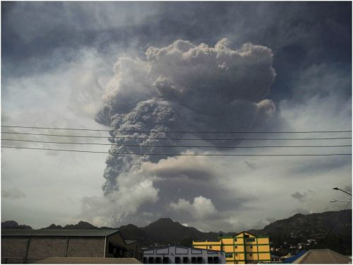 Luxury ships from the Royal Caribbean and Carnival Cruise lines sail to the rescue and evacuate islanders in the path of a volcano eruption