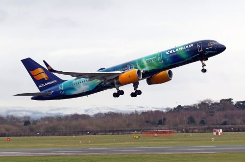 An Icelandair flight made an emergency landing from 35,000 feet after a crack was discovered in one of the cockpit windows