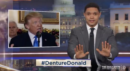 'The Daily Show' host Trevor Noah is convinced that Trump wears dentures after watching his Israel speech