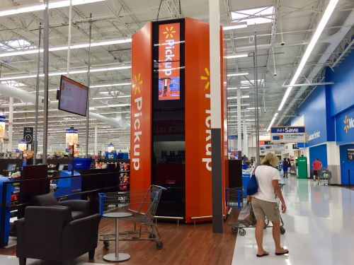 Walmart is rolling out its massive online pickup towers to 500 stores