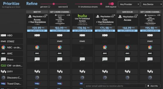Suppose TV can now alert you to changes in TV packages, so you get the best deal