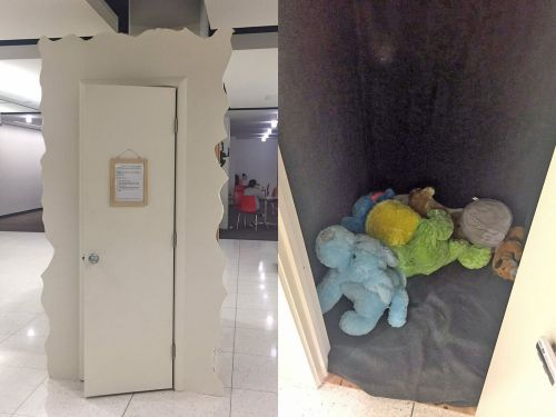 A college student built a 'Cry Closet' meant to be a 'safe space for stressed out students' - and people are torn over it