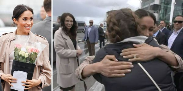 Meghan Markle spotted a fan she used to message on Instagram during her royal tour, and gave her a hug