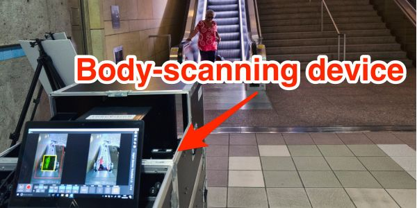 LA is installing whole-body scanners in the subway that are designed to spot concealed weapons from 30 feet
