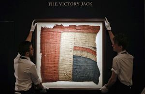 Scrap of flag from Nelson's HMS Victory sells for $408,000