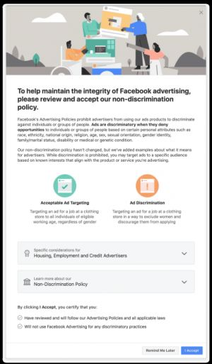 Facebook is removing over 5,000 ad targeting options to prevent discriminatory ads