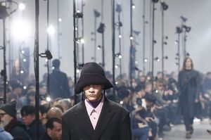 Menswear a wrap in Paris with colorful Kenzo, urban Lanvin