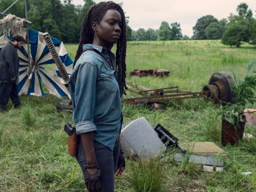 'The Walking Dead' director gives a hint at what's up with the mystery 'X' on Michonne's back