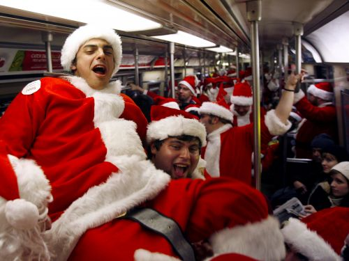 Alexandria Ocasio-Cortez suggested GrinchCon as the anti-SantaCon where the people of New York would 'spread peace and quiet everywhere they go'