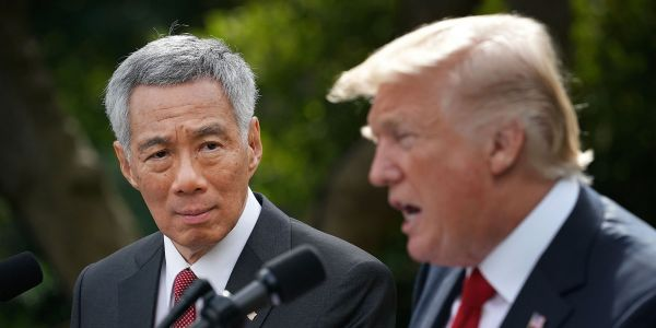 The leader of one of Asia's richest economies says a US-China trade war could threaten 'the security and stability of the world'
