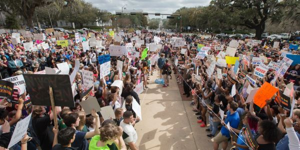 Thousands of students across the US are walking out of their schools to protest gun violence and push for change after the Florida shooting