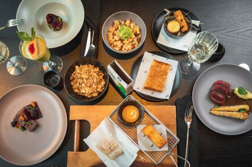 This £49, 7-course tasting menu features childhood favourites including a dish served in a Corn Flakes box