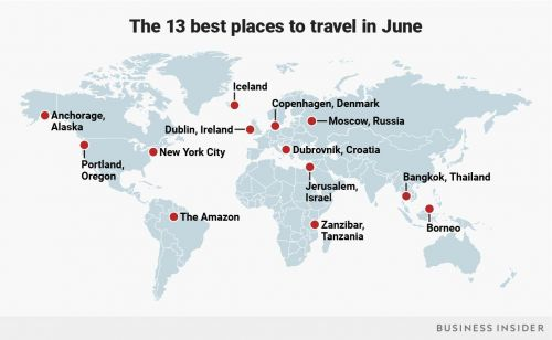 The 13 places to travel in June for every type of traveler