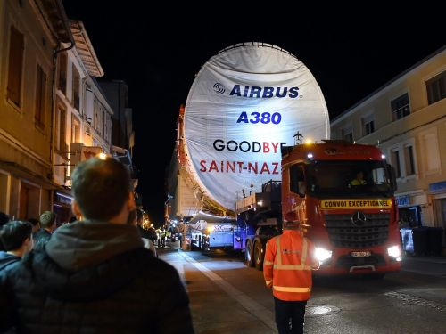 Airbus just trucked its final A380 fuselage through a small French village as the world's largest airliner is killed off