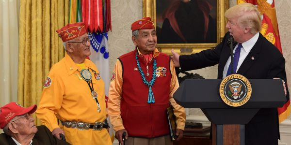 Here's the story of the Native American code talkers who Trump made his 'Pocahontas' comments to