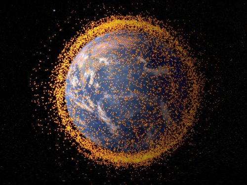 The US government logged 308,984 potential space-junk collisions in 2017 - and the problem could get much worse