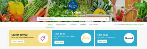 Sam's Club to offer same-day grocery delivery via Instacart at over half its stores by month end