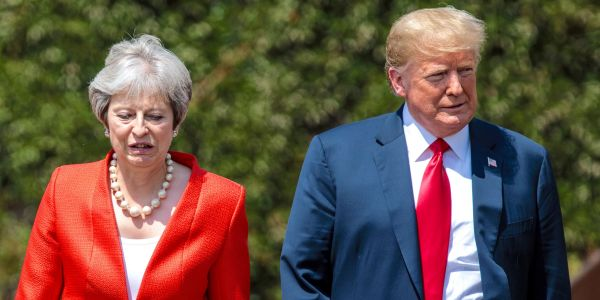 Trump reportedly berated Teresa May over the phone before a disastrous trip to Paris