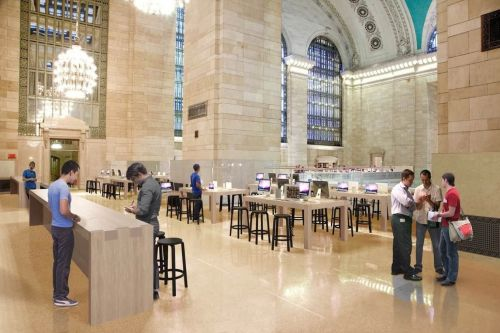 A man allegedly shipped a package with more than a pound of meth to Apple's Grand Central Station store in New York and was arrested when he tried to pick it up