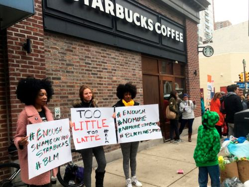 Shocking footage shows a black man confronting a Starbucks barista about why he was apparently denied access to bathroom while a white man was not