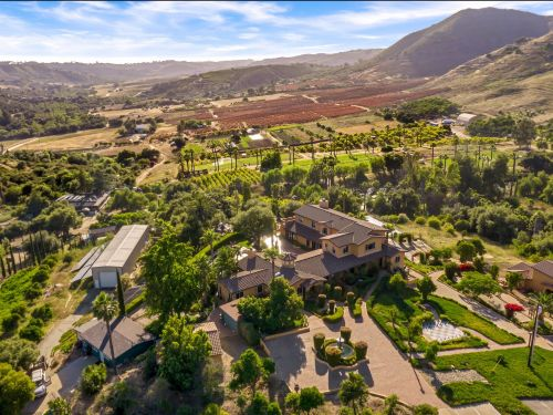 A sprawling estate in San Diego with a life-size chess board, waterfall, and Egyptian-themed movie theater is selling for $2.5 million - take a look inside Rancho Magdalena