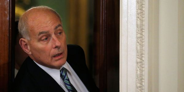 White House claims John Kelly looked 'displeased' at NATO summit because 'because he was expecting a full breakfast and there were only pastries and cheese'
