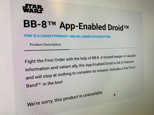 Sphero is finished making Star Wars products