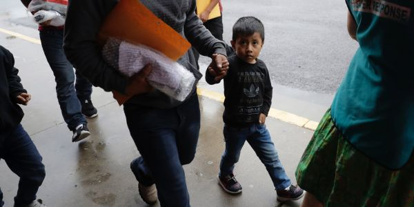 Caseworkers are desperately trying to help the kids separated from their parents, but many are so upset they can't talk - or too young to speak