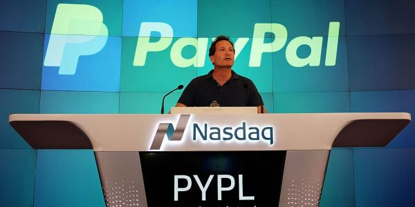 Paypal is gaining ground after announcing its $2.2 billion acquisition of a European competitor of Square
