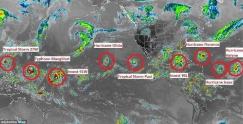 A Record 7 Named Storms Are Swirling Across The Globe - Has 'The Day After Tomorrow' Arrived?