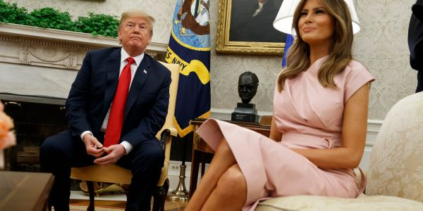 Melania reportedly bought modern furniture for the White House, and then Trump replaced it while she was gone with gilded, 'Louis XIV' style pieces