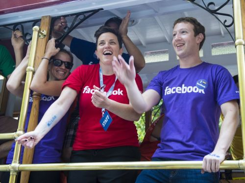Once a year, Facebook bombards employees with custom balloons and shout outs - and even Mark Zuckerberg participates