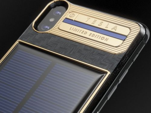 This $4,000 iPhone X has its own solar battery - and the first one will be mailed to Elon Musk
