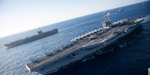 US Navy flexes with 2 carriers near China as report warns that Beijing's missiles could sink them