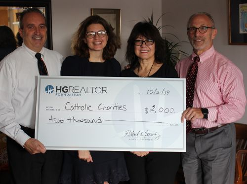 Hudson Gateway REALTOR® Foundation Donates $2,000 to Catholic Charities of Orange, Sullivan and Ulster Counties