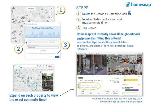 Homesnap Adds Commute Feature to Search Site