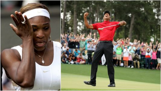 Serena Williams says she was 'literally in tears' watching the Masters because Tiger Woods shows 'greatness like no other'