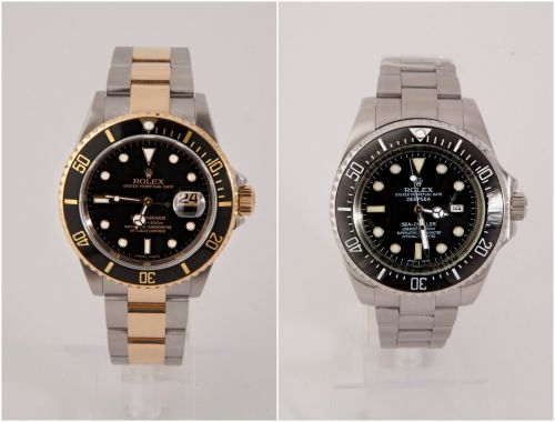 These side-by-side photos show real and fake Rolex watches - here's how to spot the counterfeit