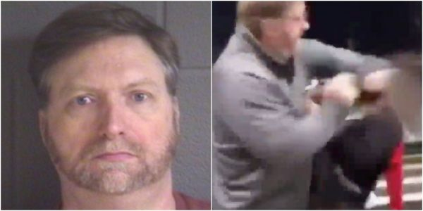 Attorney for the white man who was filmed punching an 11-year-old black girl says he suffers from PTSD and felt threatened by the 'pack of youths'