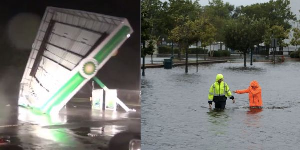 Photos and videos show the flooding and devastation as Hurricane Florence hits North Carolina