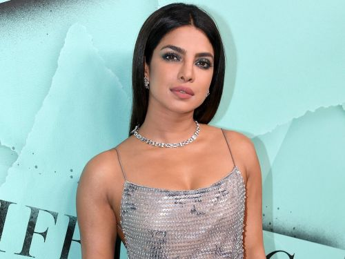 Priyanka Chopra put a bridal spin on the 'no pants' trend at her bachelorette party