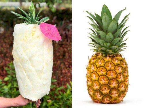 Disneyland is now selling pineapple cotton candy - and it even looks like the real fruit