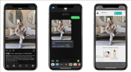 How influencers are using a new affiliate-marketing tool to text message their fans and drive sales