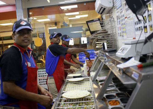 Domino's pizza sinks after same-store sales miss