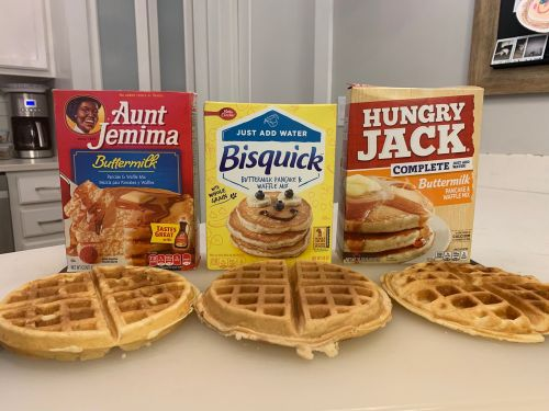 We tried 3 waffle mixes and the winner tasted homemade