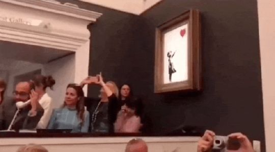 Banksy 'Girl With Balloon' Painting Sells for $1.4 Million-Then Self-Destructs on the Spot